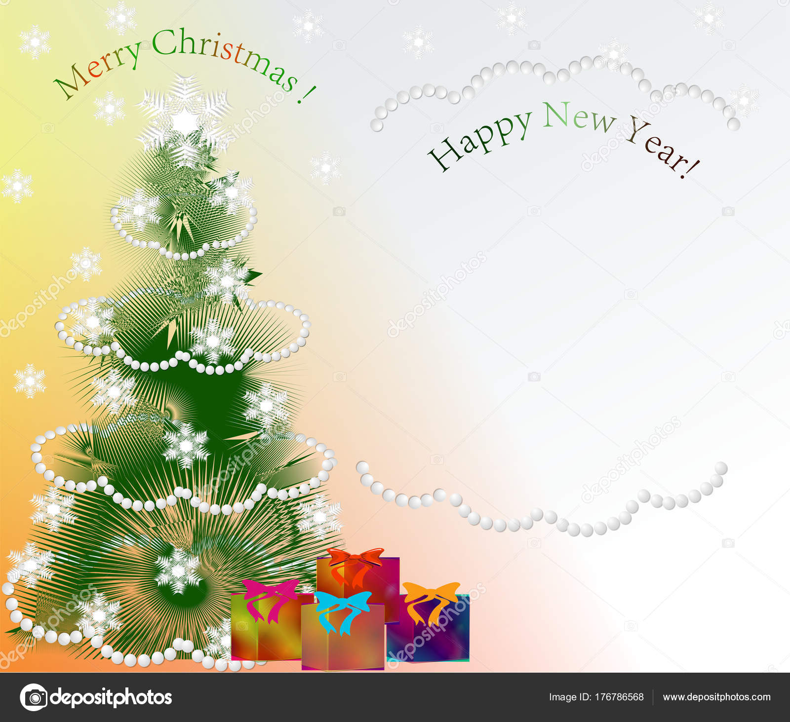 Abstract Image Greeting Card Happy New Year Merry Christmas — Stock ...