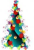 Absztrakt képet, fa Stylized karácsonyfa, új év,