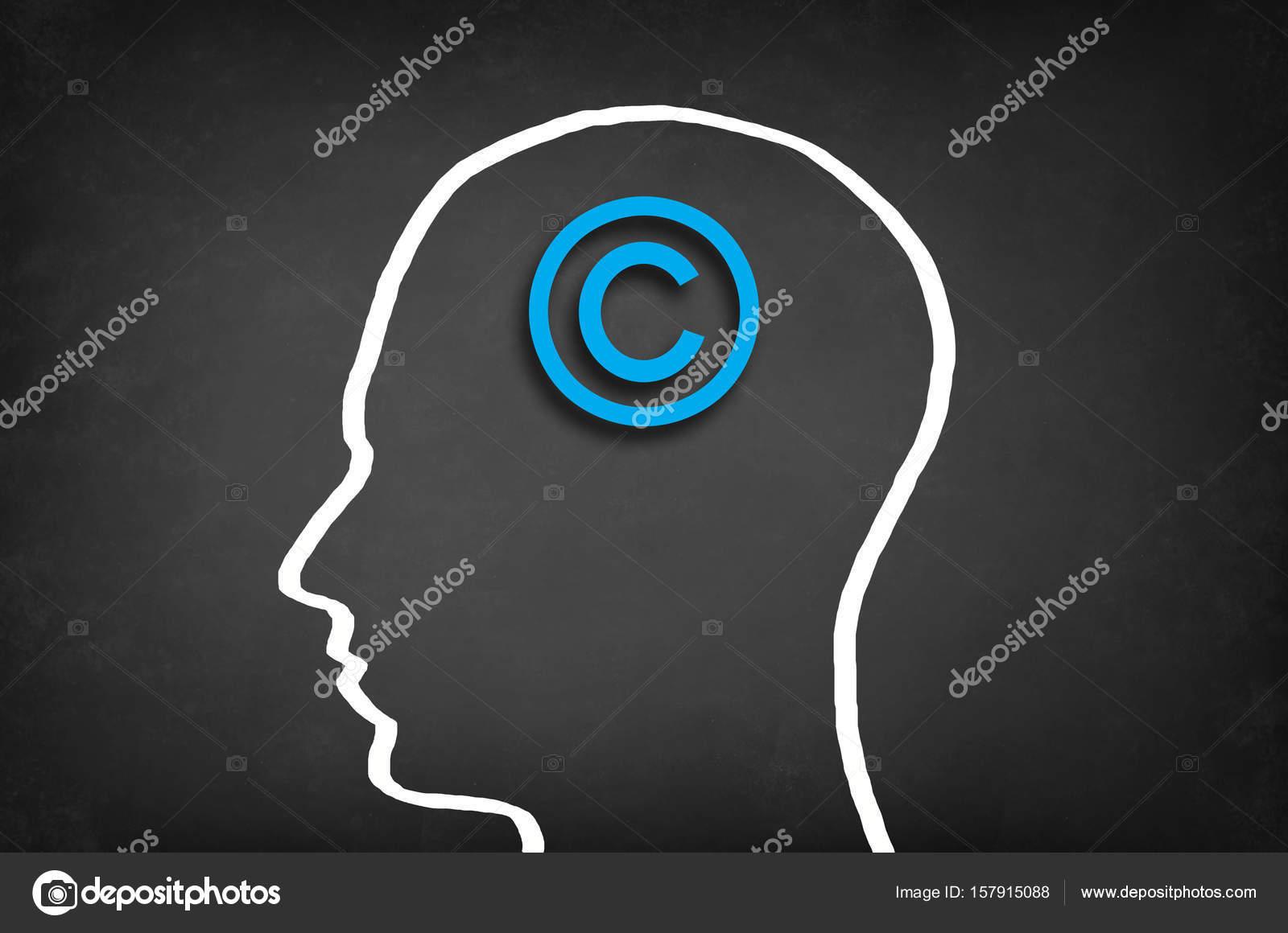 Copyright Symbol In Head Stock Photo Adzictasa 157915088