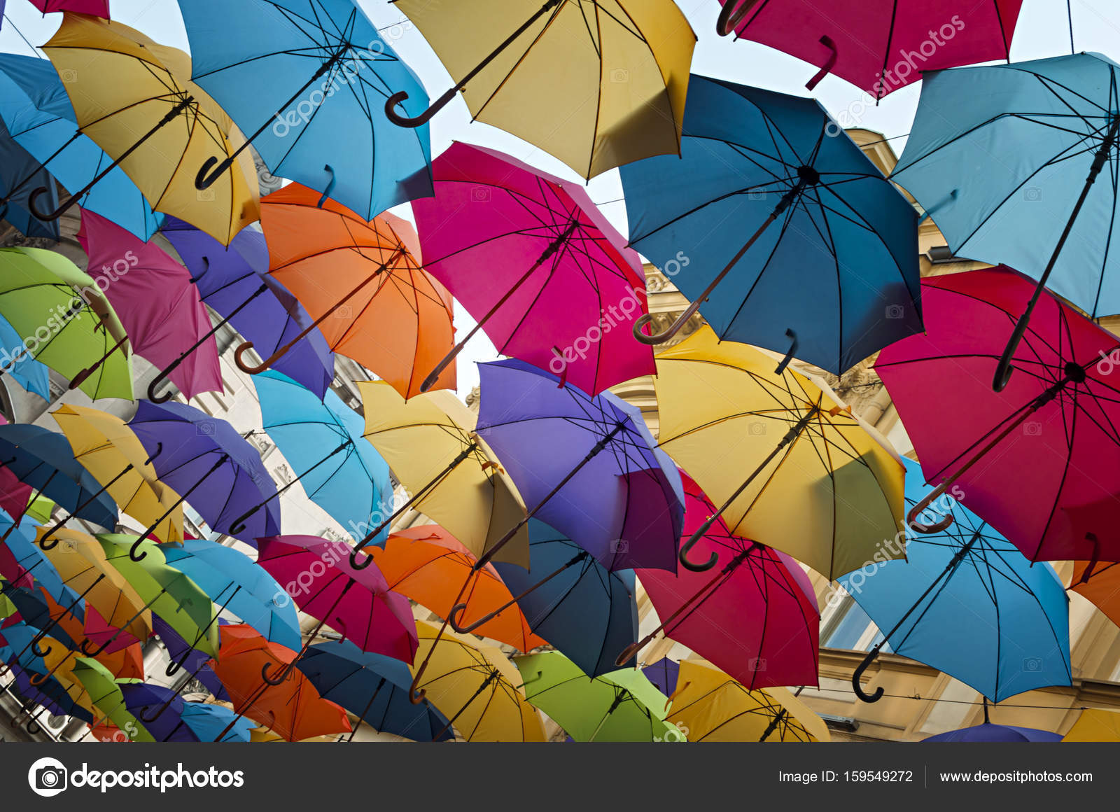 Colorful umbrella street decoration — Stock Photo © adzic.natasa ... for Colorful Umbrella Photography  55nar