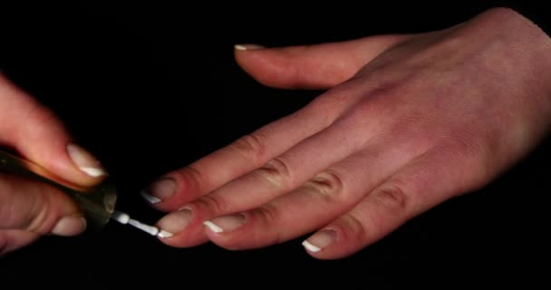 Woman Hands And Nails With French Manicure