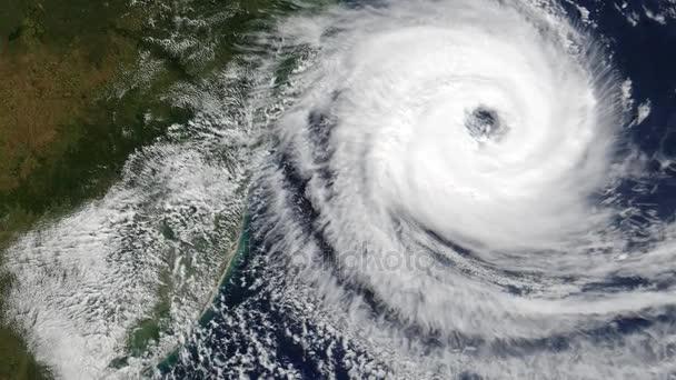 Hurricane aus dem Weltall auf der Erde
