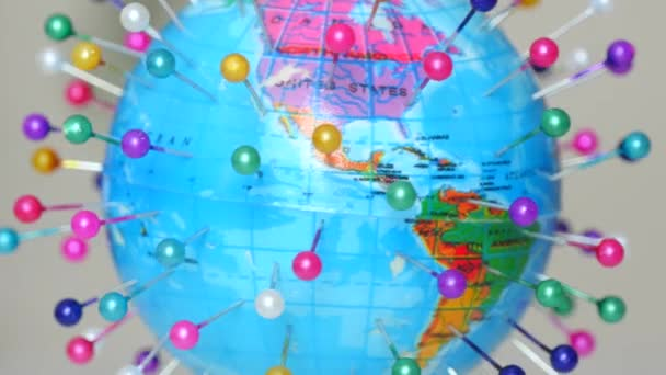 Spinning Globe Earth With Pins
