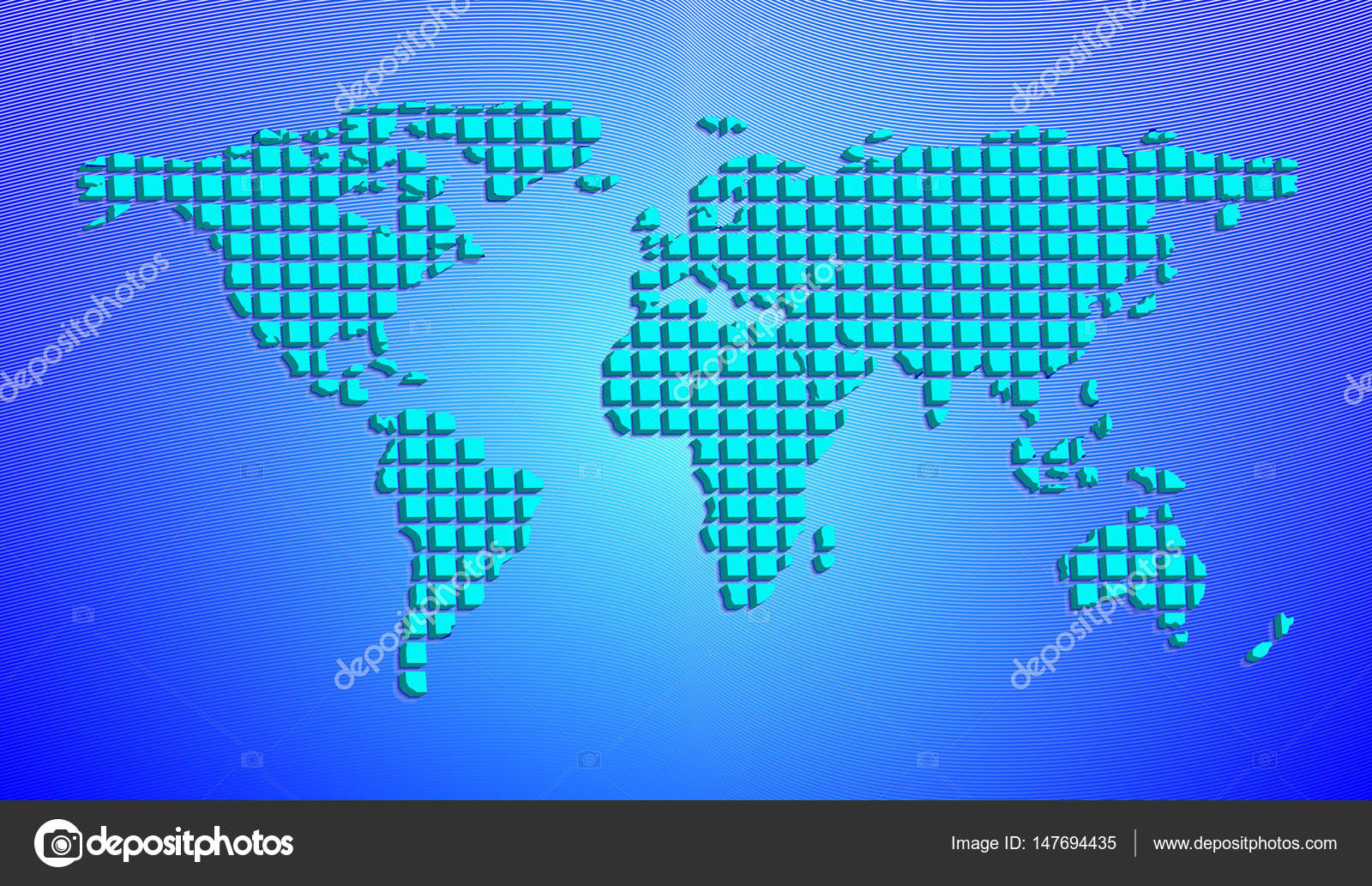 Abstract world map from 3d squares vector illustration stock abstract world map from 3d squares vector illustration stock vector gumiabroncs Choice Image