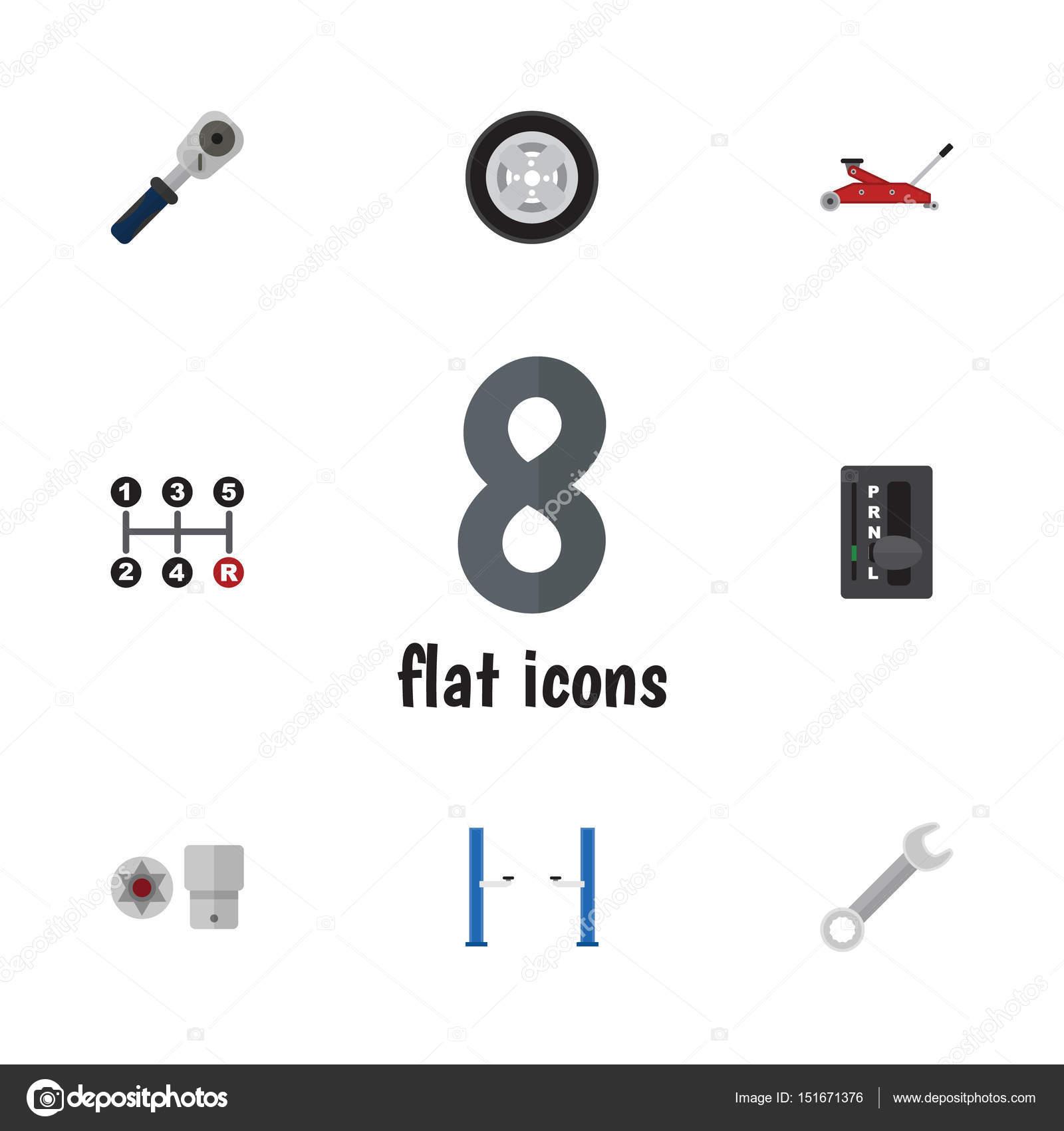 Flat Workshop Set Of Auto Jack, Automatic Transmission, Lifting And