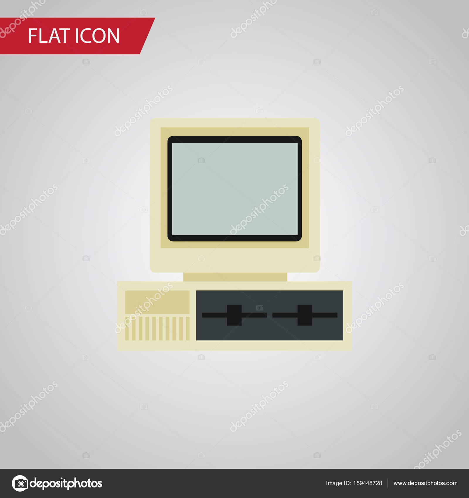 Isolated PC Flat Icon  Computer Vector Element Can Be Used