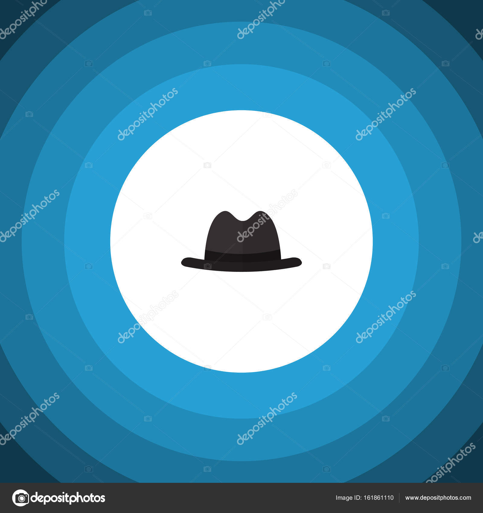 2fa47e80660 Isolated Fedora Flat Icon. Panama Vector Element Can Be Used For ...