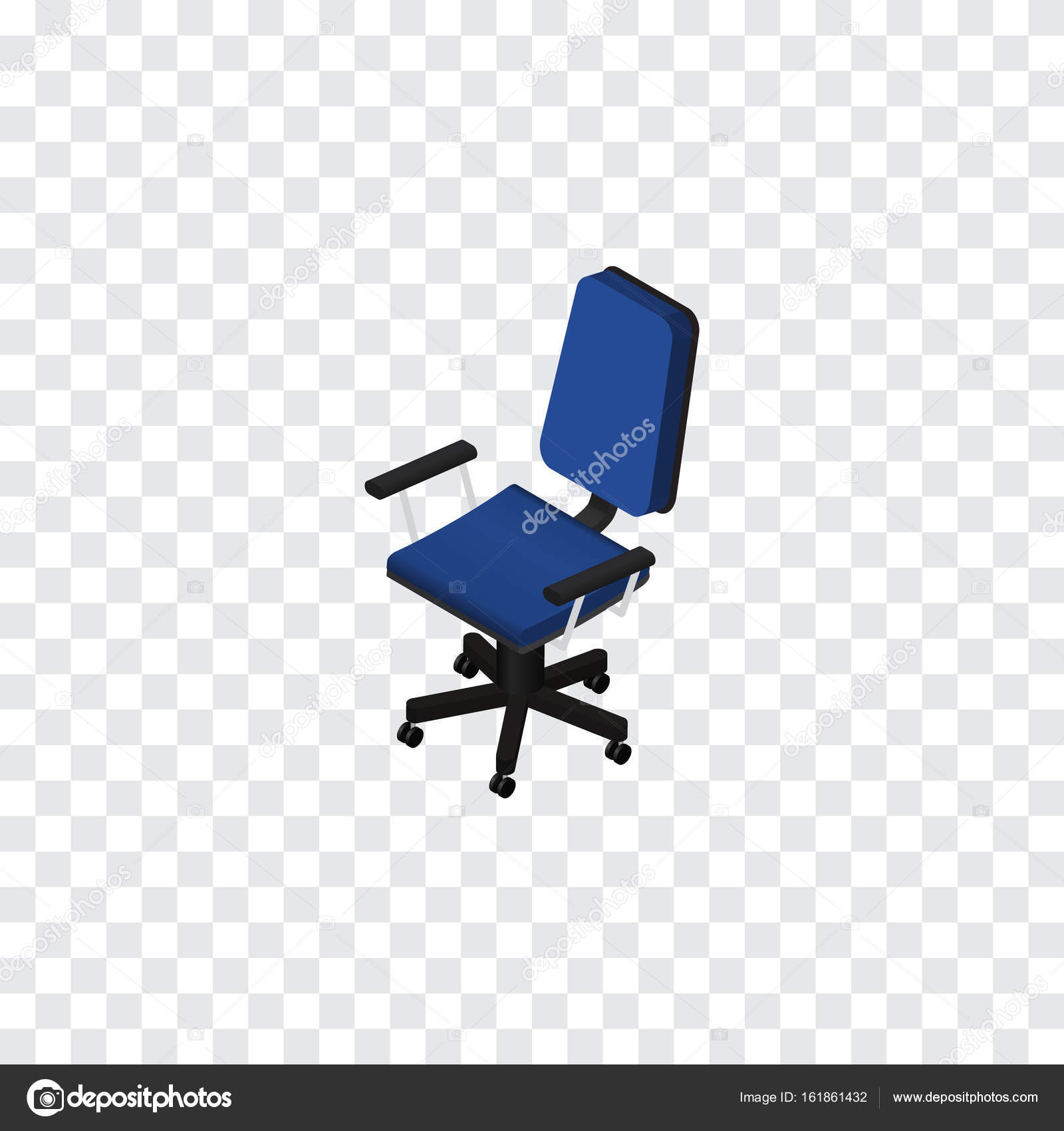 Isolated Chair Isometric Office Vector Element Can Be Used For