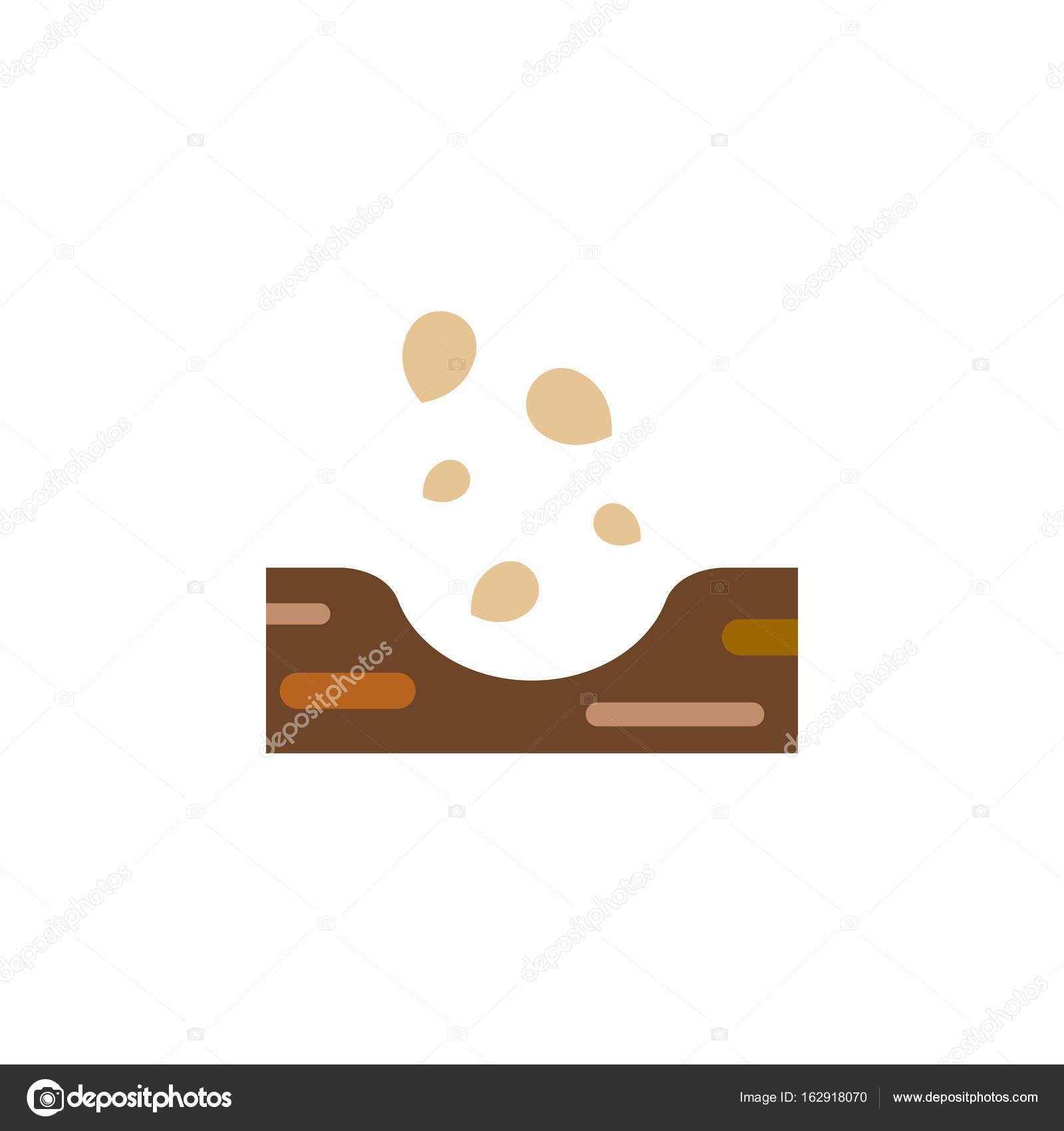 Isolierter Boden flach Symbol. Samen Vektorelement einsetzbar für ...