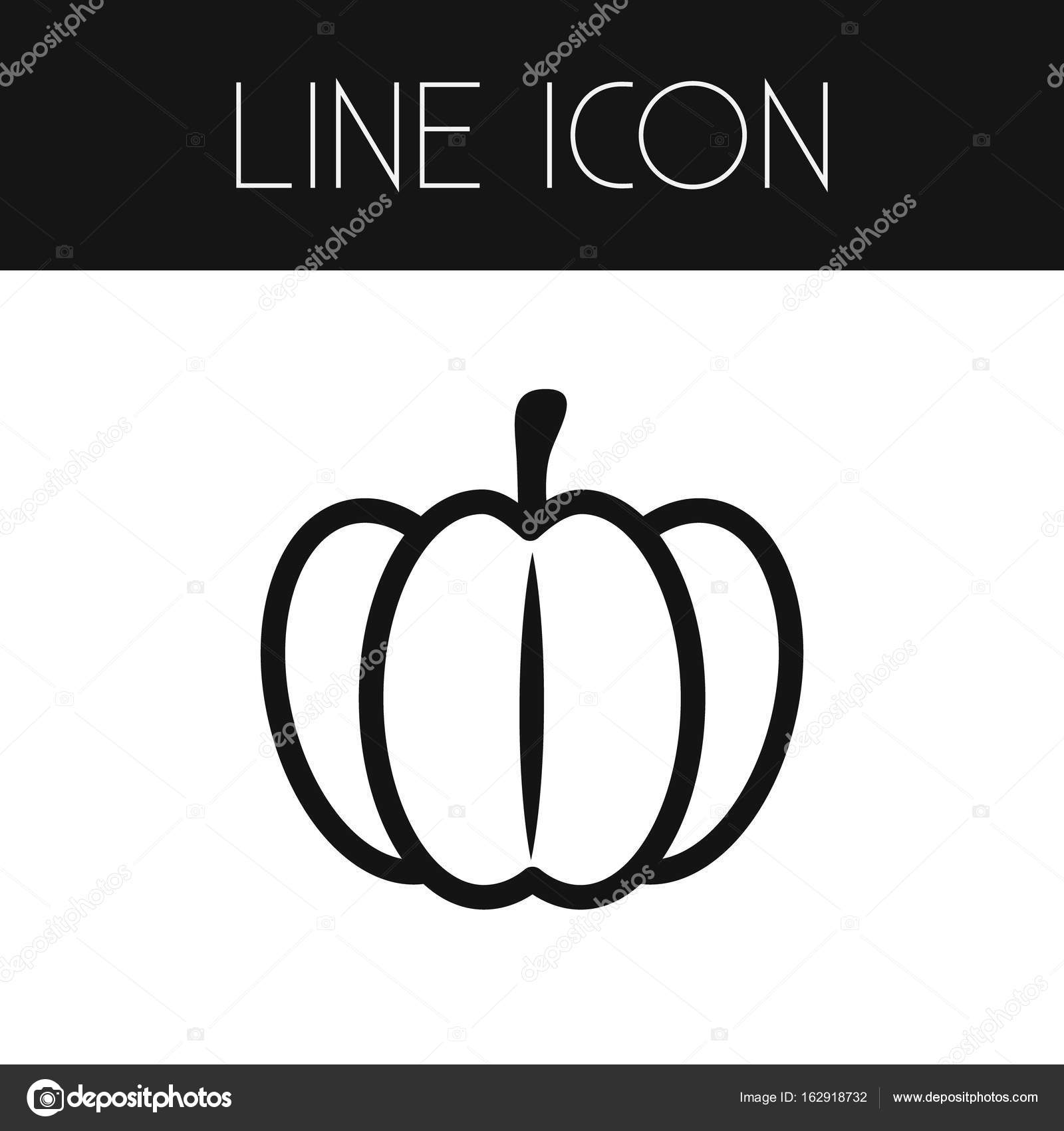 Isolated Pumpkin Outline Gourd Vector Element Can Be Used For Gourd