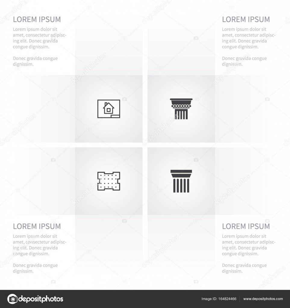 Icon building set of ornate paper template and other vector icon building set of ornate paper template and other vector objects also includes malvernweather Images