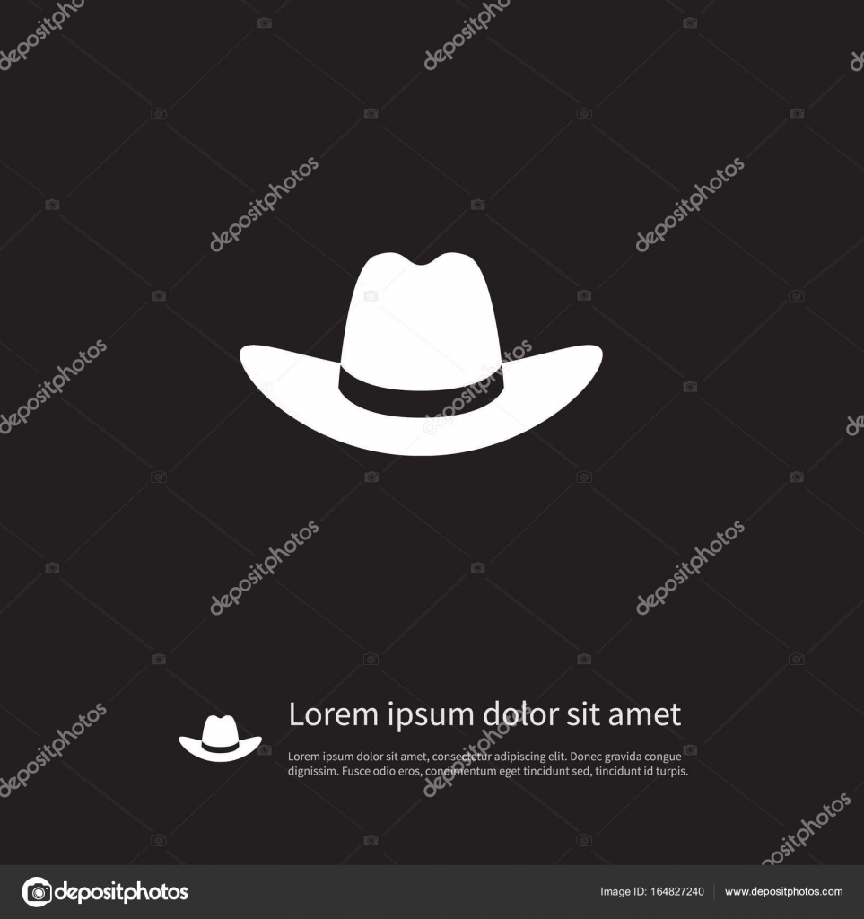 f6c4d8870df Isolated Gaucho Icon. Cowboy Vector Element Can Be Used For Cap