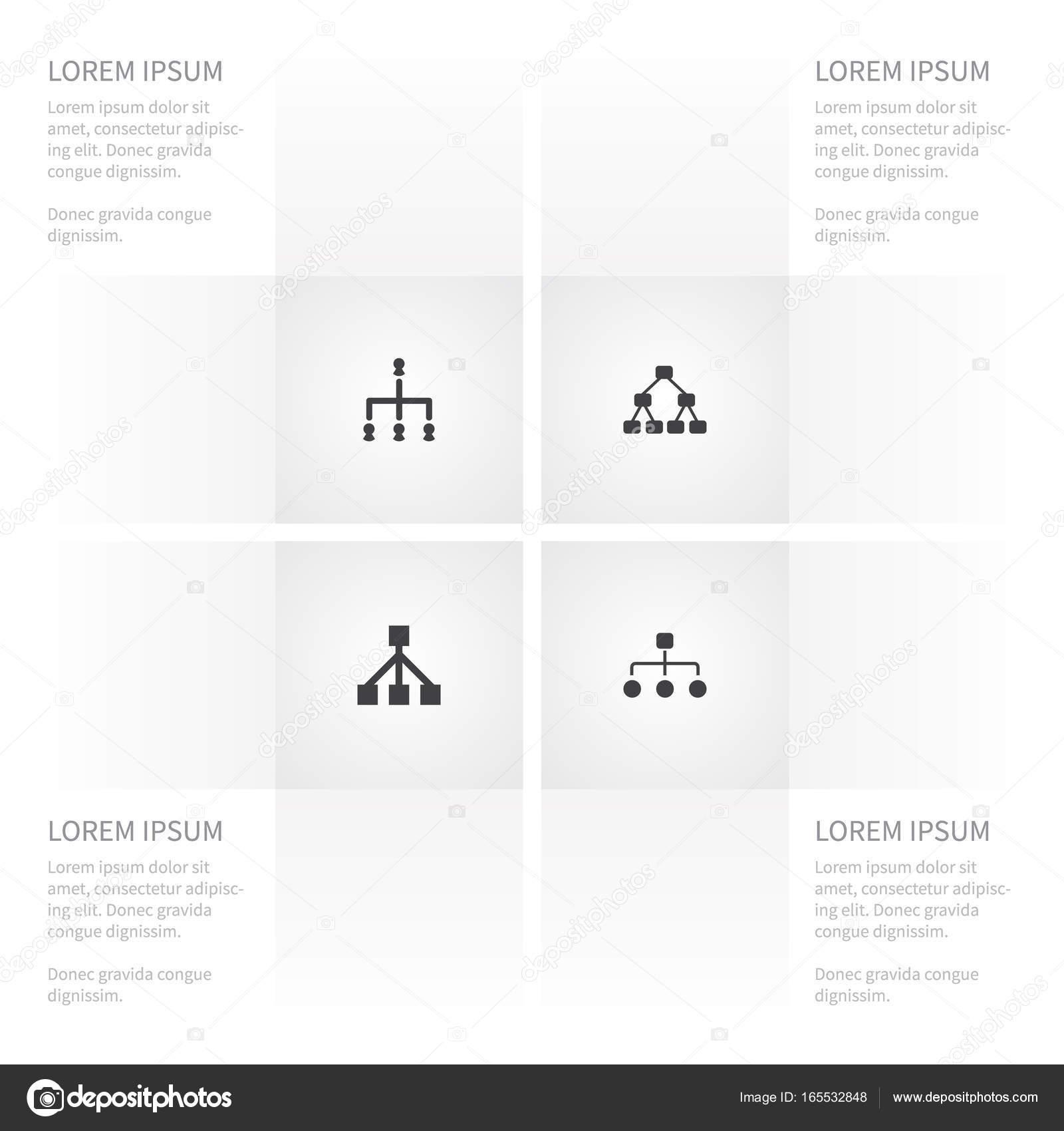 Symbol-Schrank Set Team, Rahmen, Hierarchie und andere Vektor ...