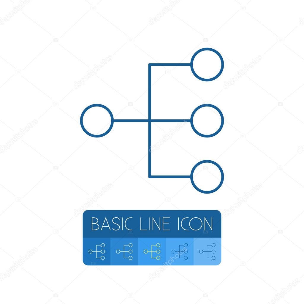 Isolated Structure Outline. Hierarchy Vector Element Can Be Used For Hierarchy, Structure, Model Design Concept.
