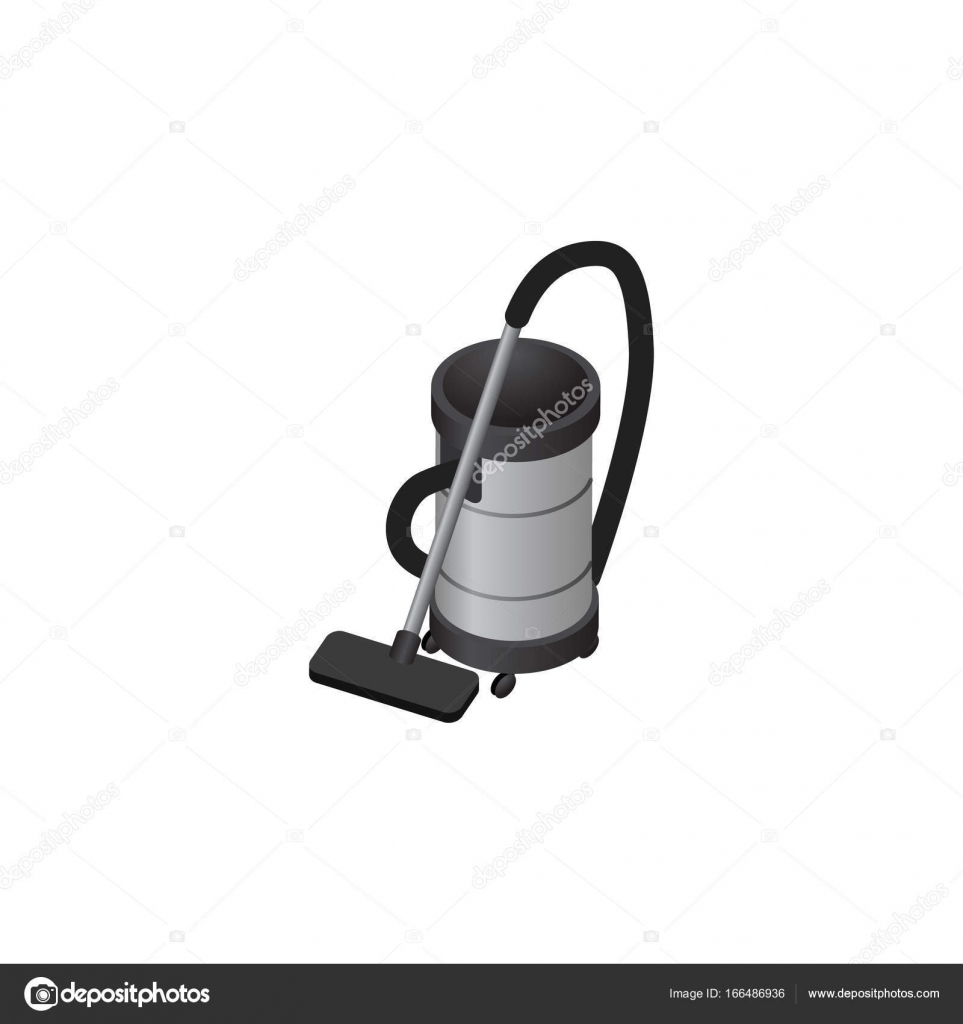 isolated vacuum cleaner isometric vac vector element can be used