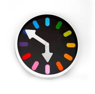 Beautiful wall clock on a white background