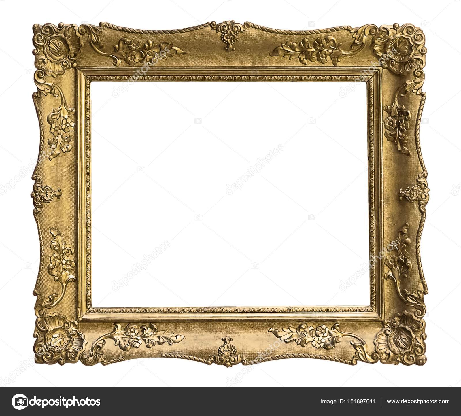 Gilded frame for paintings, mirrors or photos — Stock Photo ...