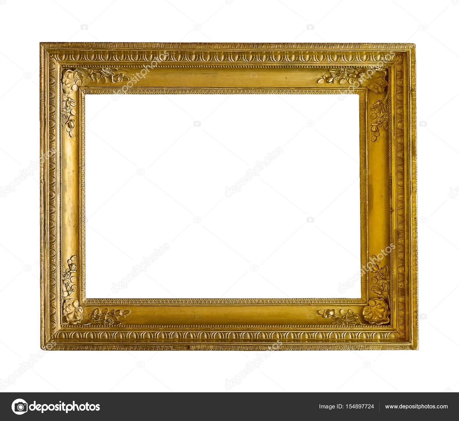 Marco dorado para cuadros, espejos o fotos — Fotos de Stock ...