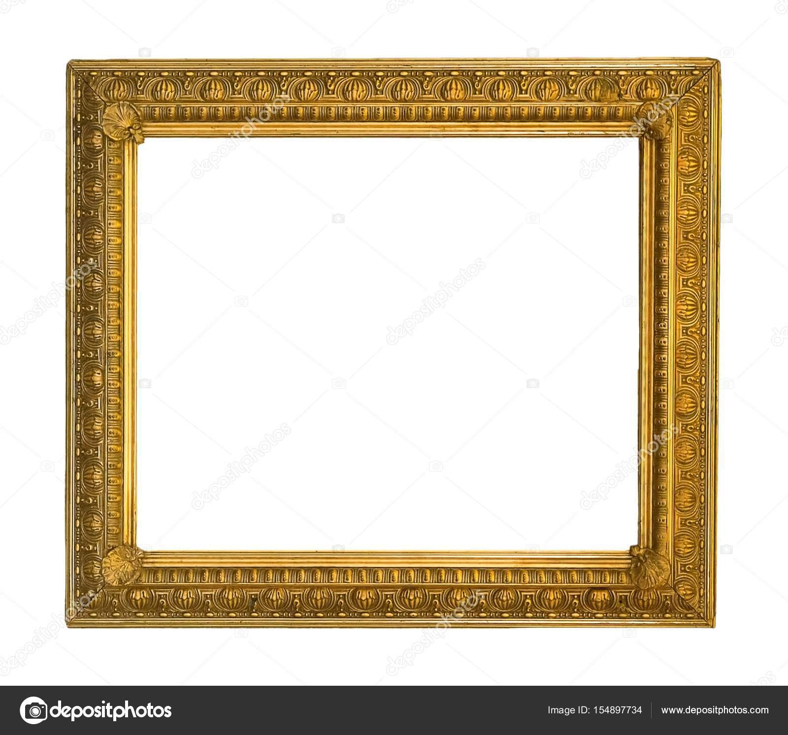 Vergoldeter Rahmen für Bilder, Spiegel oder Fotos — Stockfoto ...