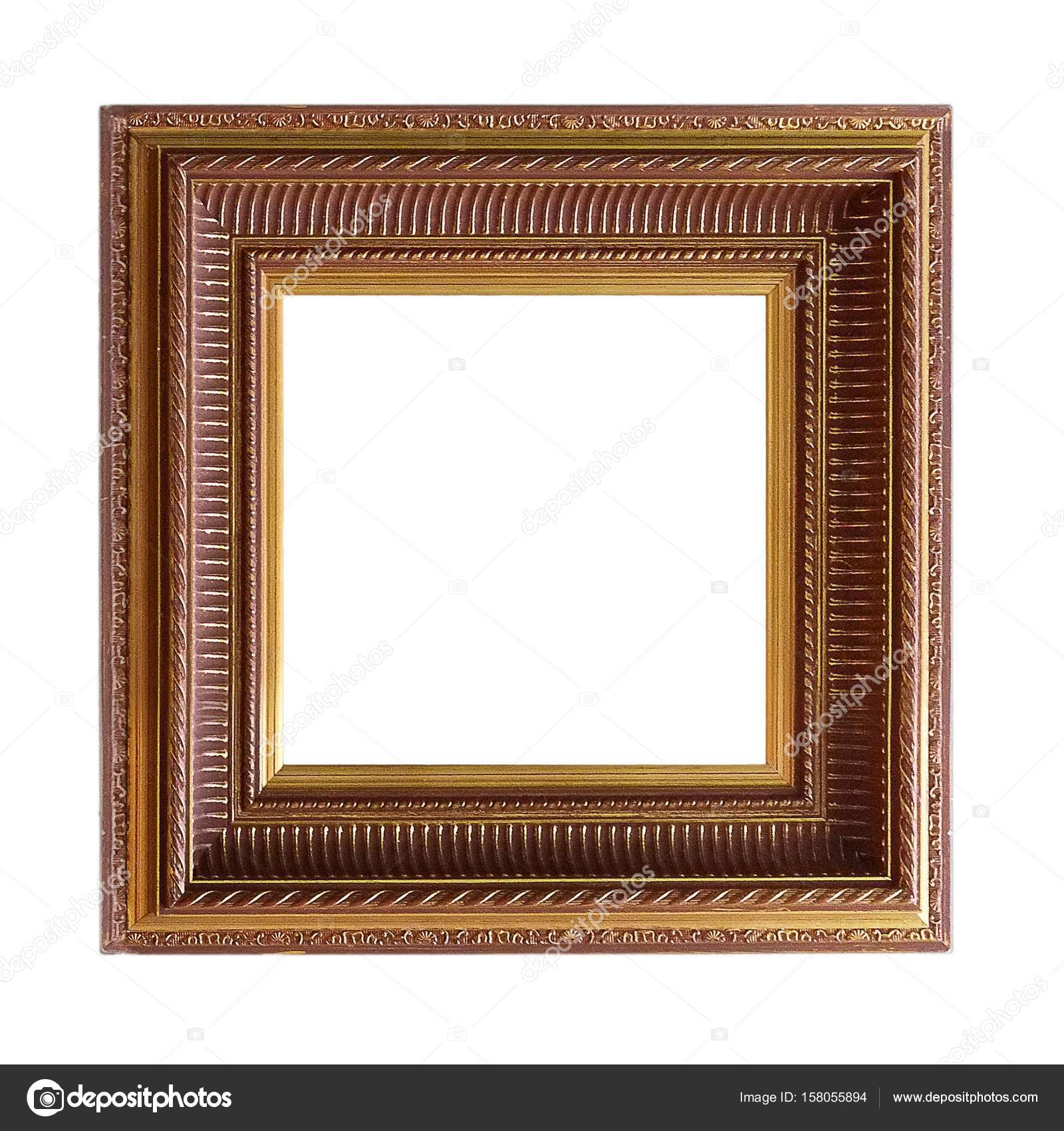Frame for paintings, mirrors or photos on white background — Stock ...