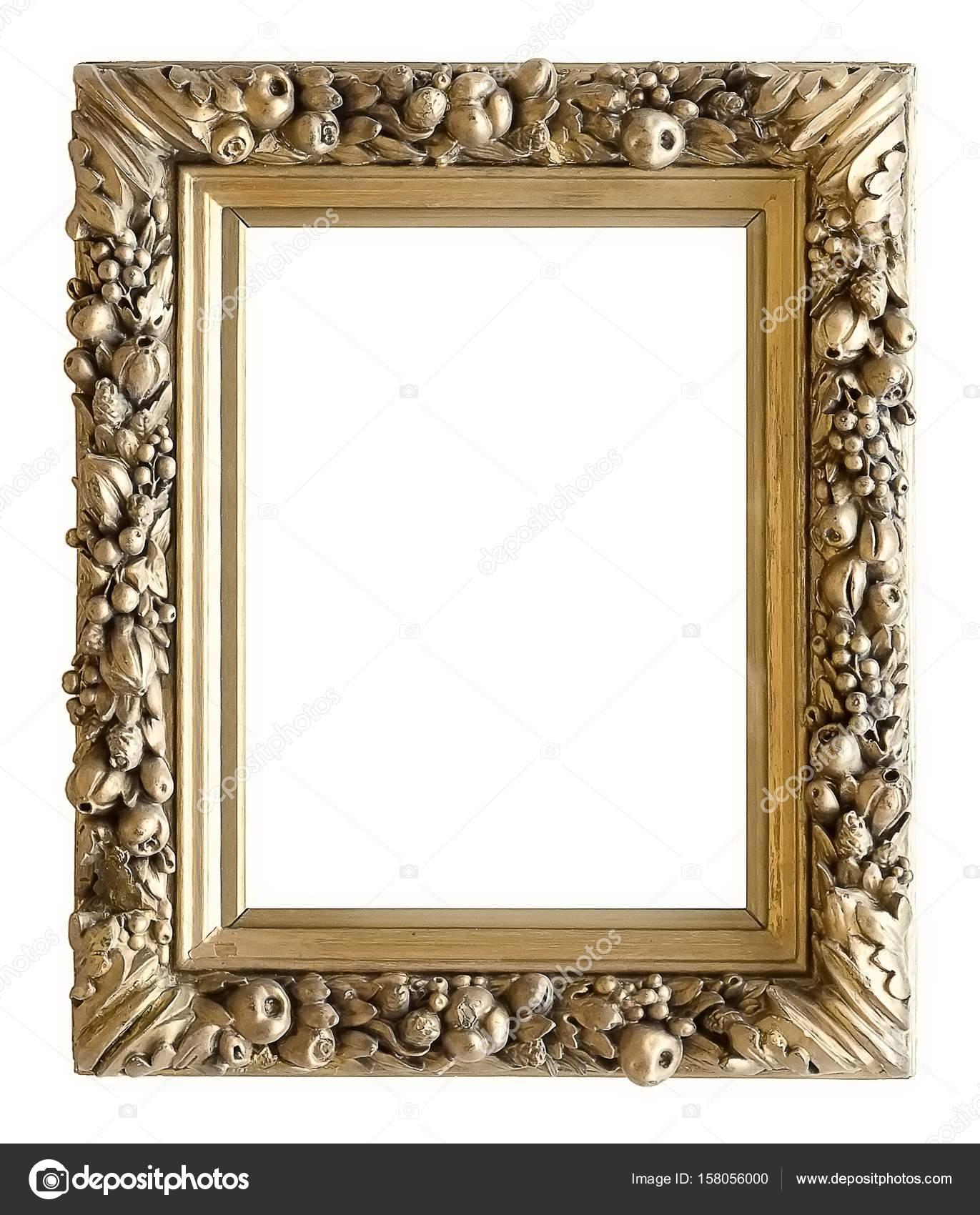 Marco para cuadros, espejos o fotografías en fondo blanco — Foto de ...