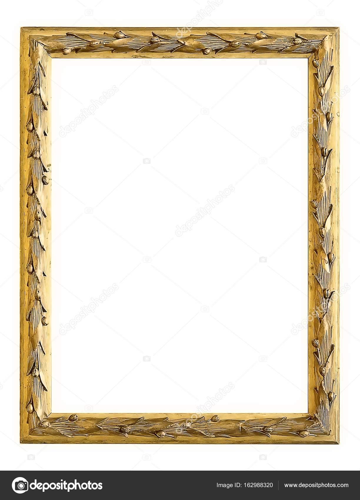 marco dorado aislado sobre fondo blanco — Fotos de Stock © Prokrida ...