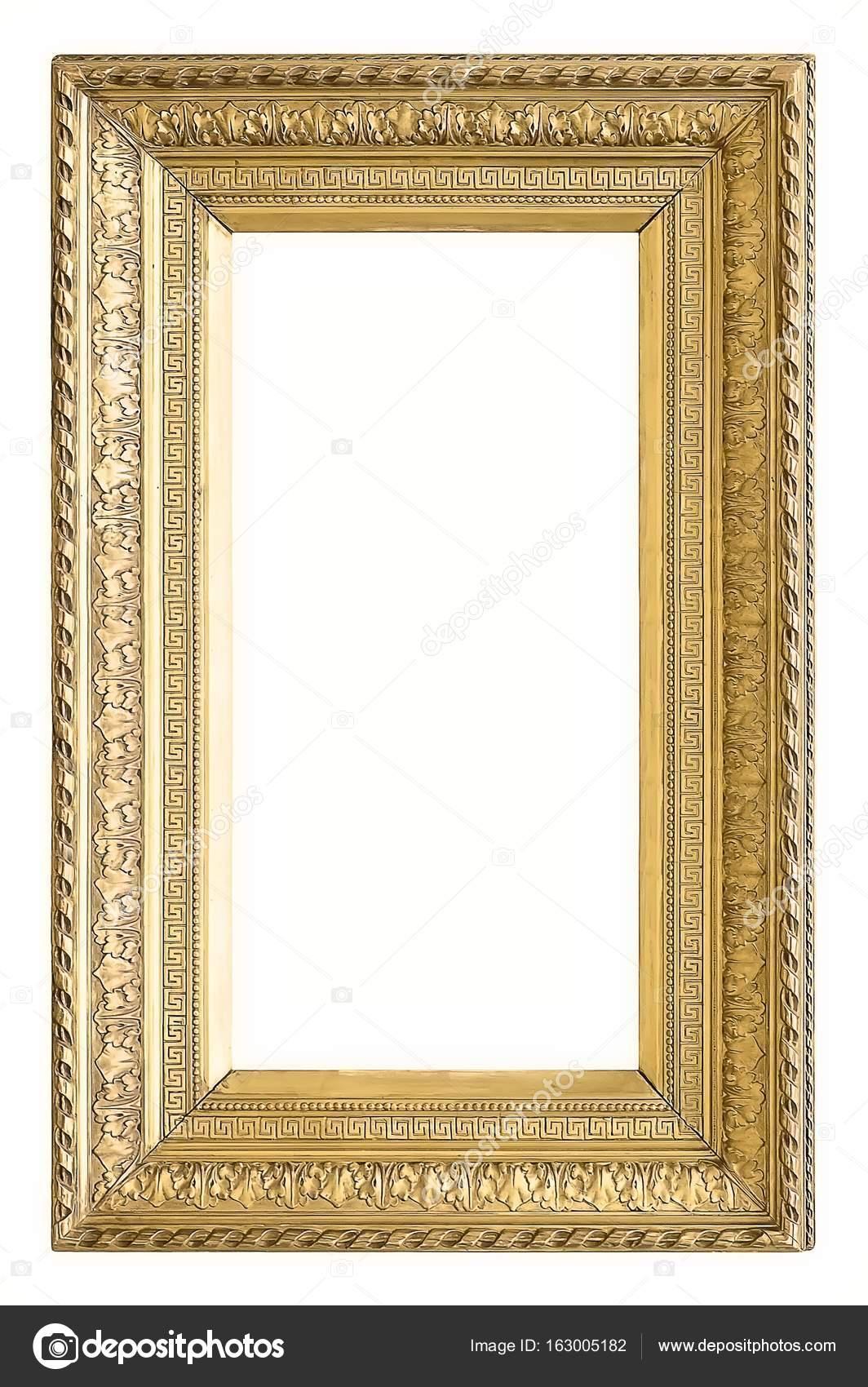 Gilded frame isolated on white background — Stock Photo © Prokrida ...