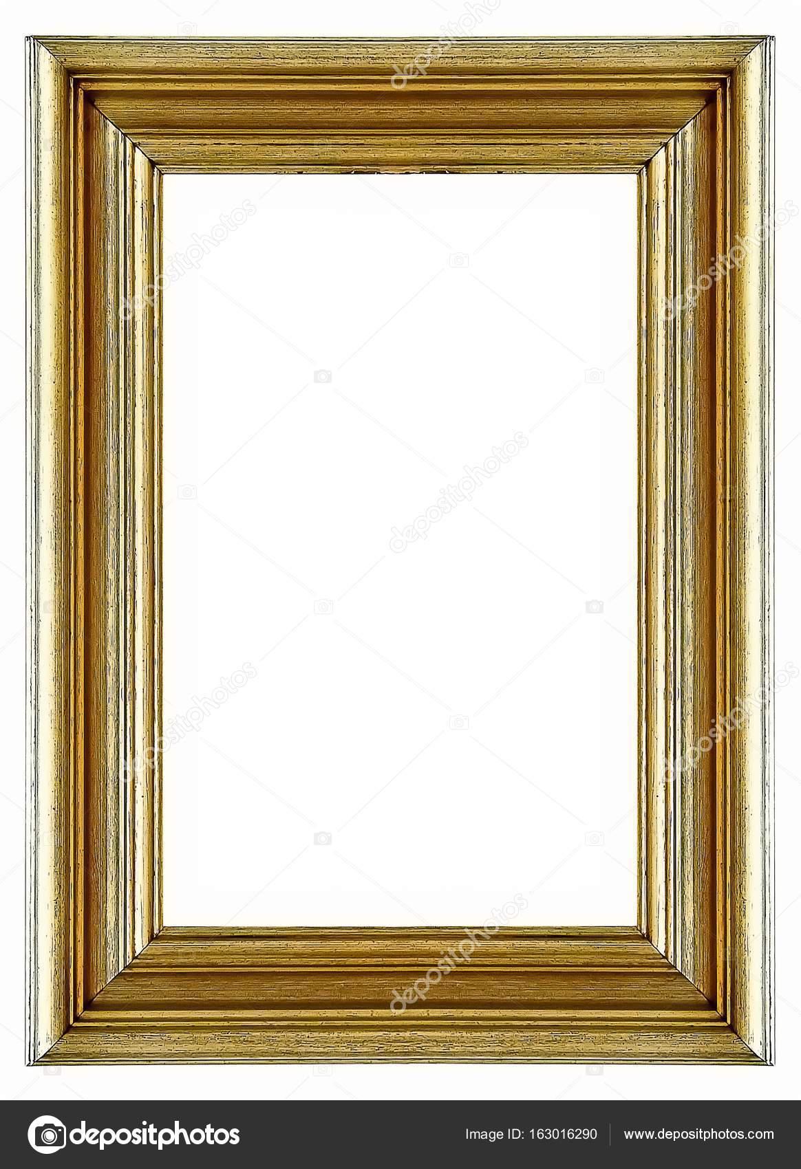 Vergoldeter Rahmen isoliert auf weißem Hintergrund — Stockfoto ...