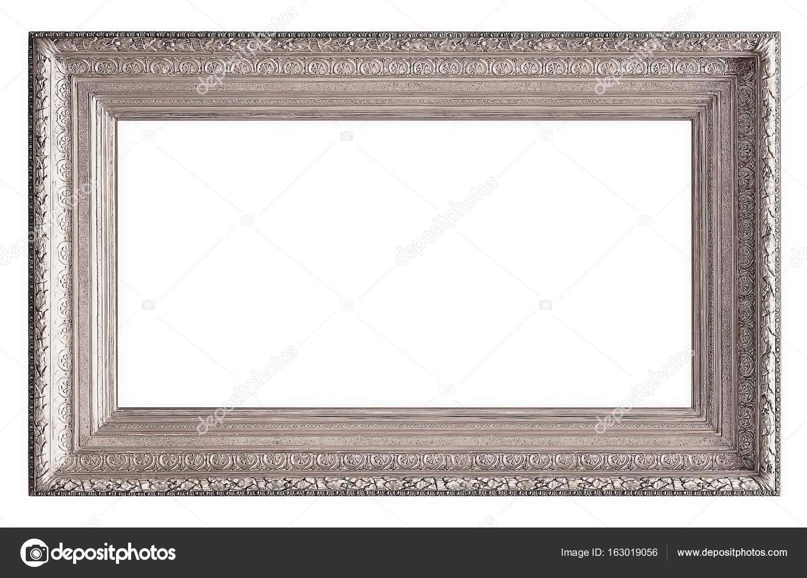 marco de plata aislado sobre fondo blanco — Fotos de Stock ...