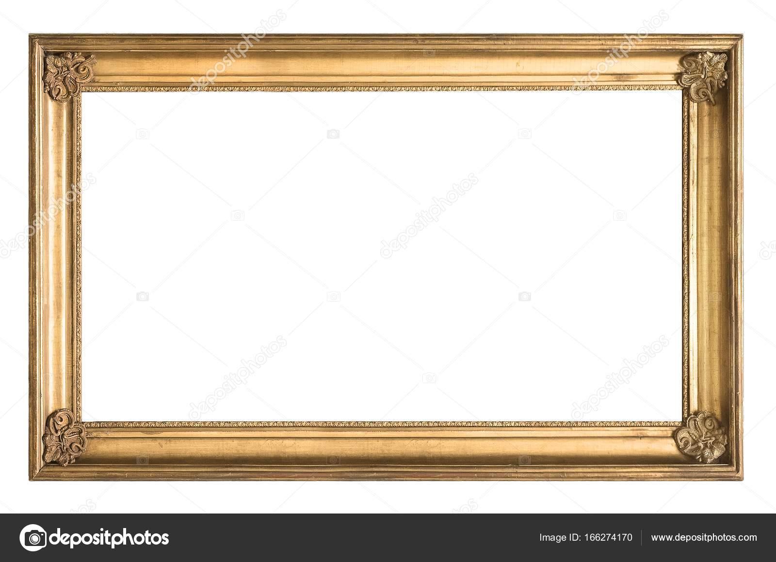 Marco de oro para muchas obras de arte sobre un fondo blanco — Foto ...