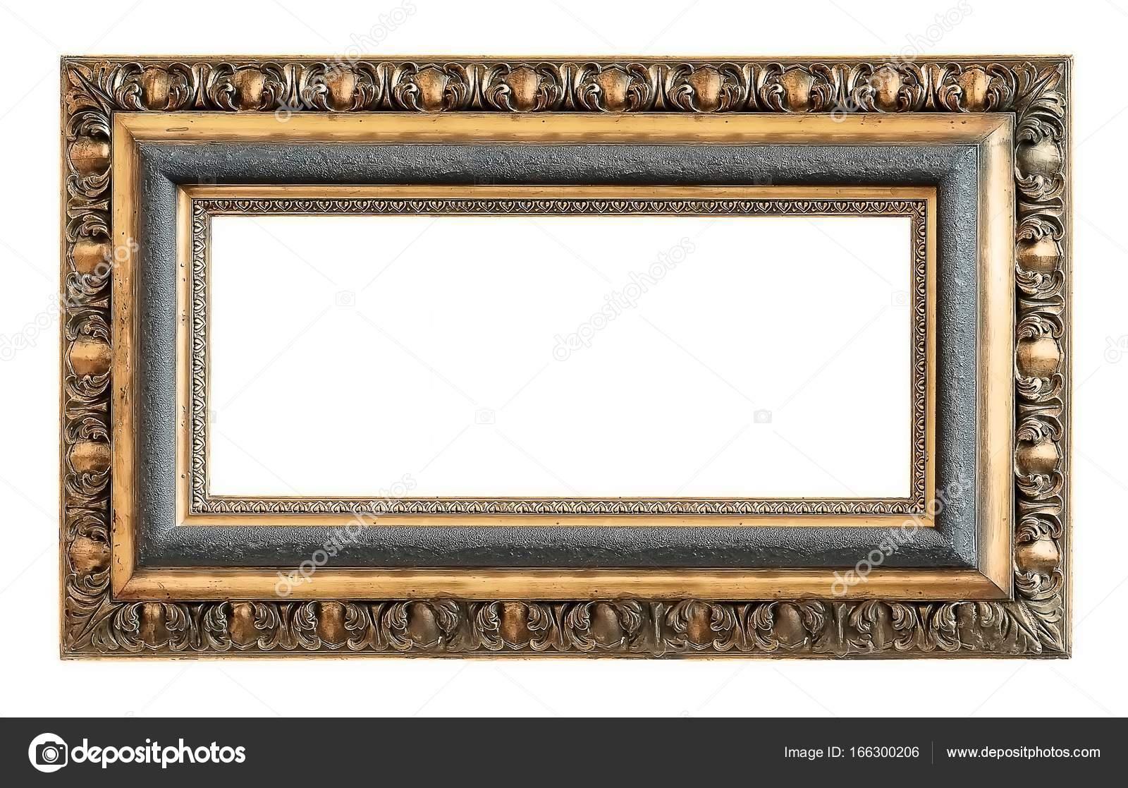 Marco de oro para muchas obras de arte sobre un fondo blanco — Fotos ...