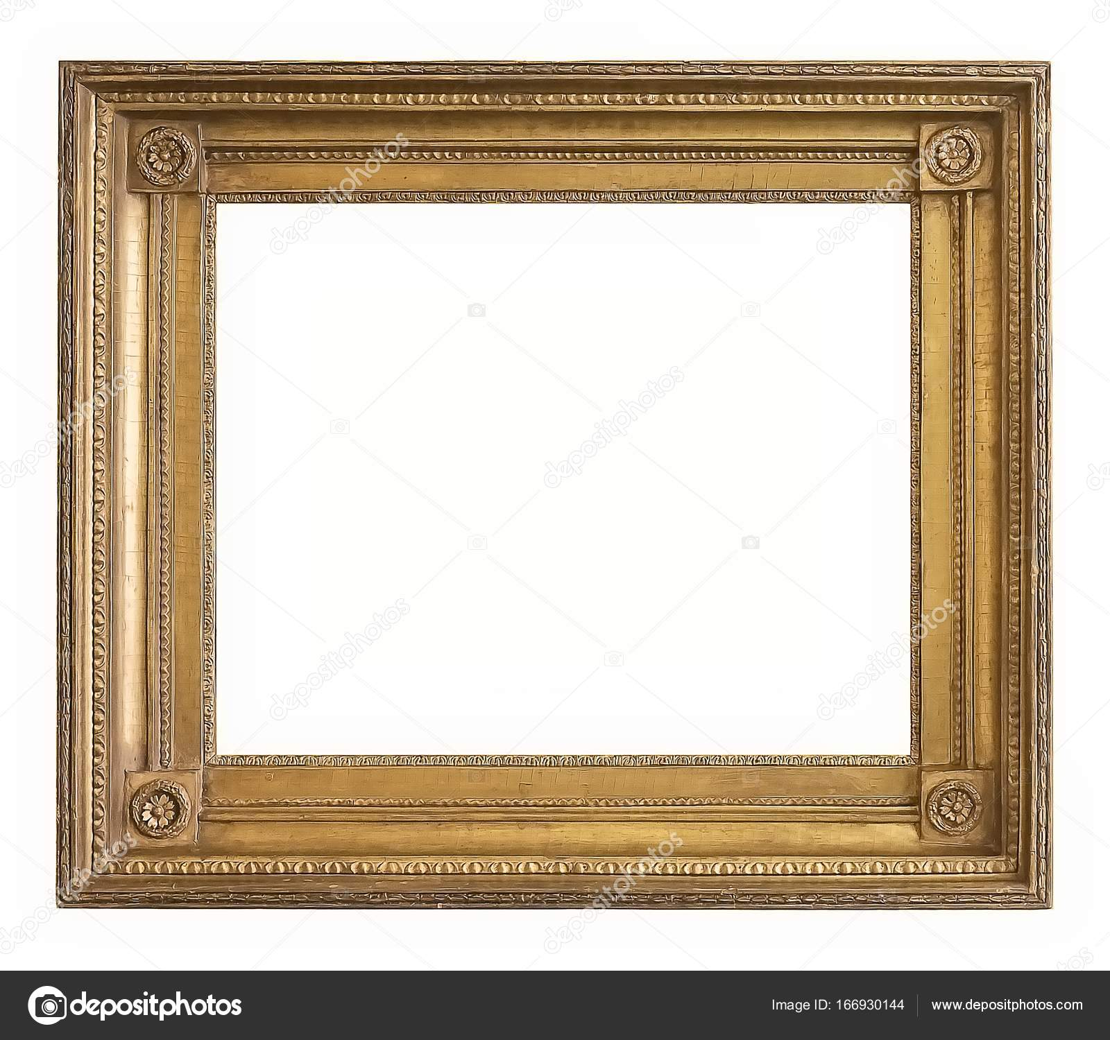 Golden frame for paintings, mirrors or photos — Stock Photo ...