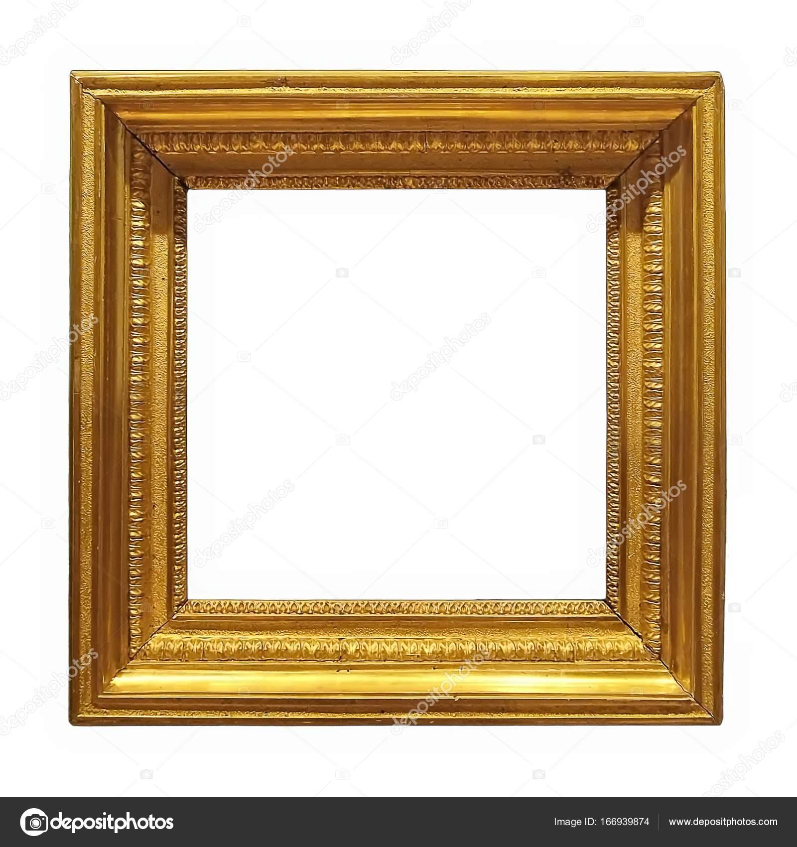Goldener Rahmen für Bilder, Spiegel oder Fotos — Stockfoto ...