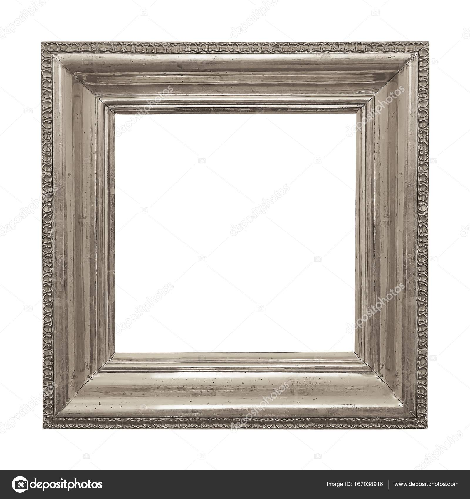 Marco de plata para cuadros, espejos o fotos — Foto de stock ...