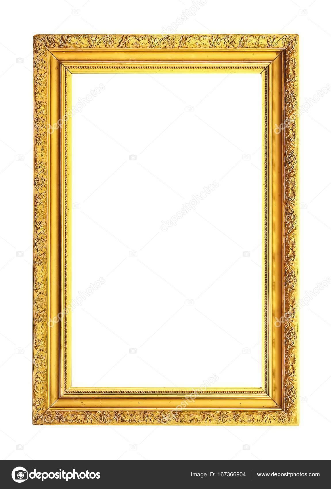Marco dorado de madera para un cuadro — Foto de stock © Prokrida ...