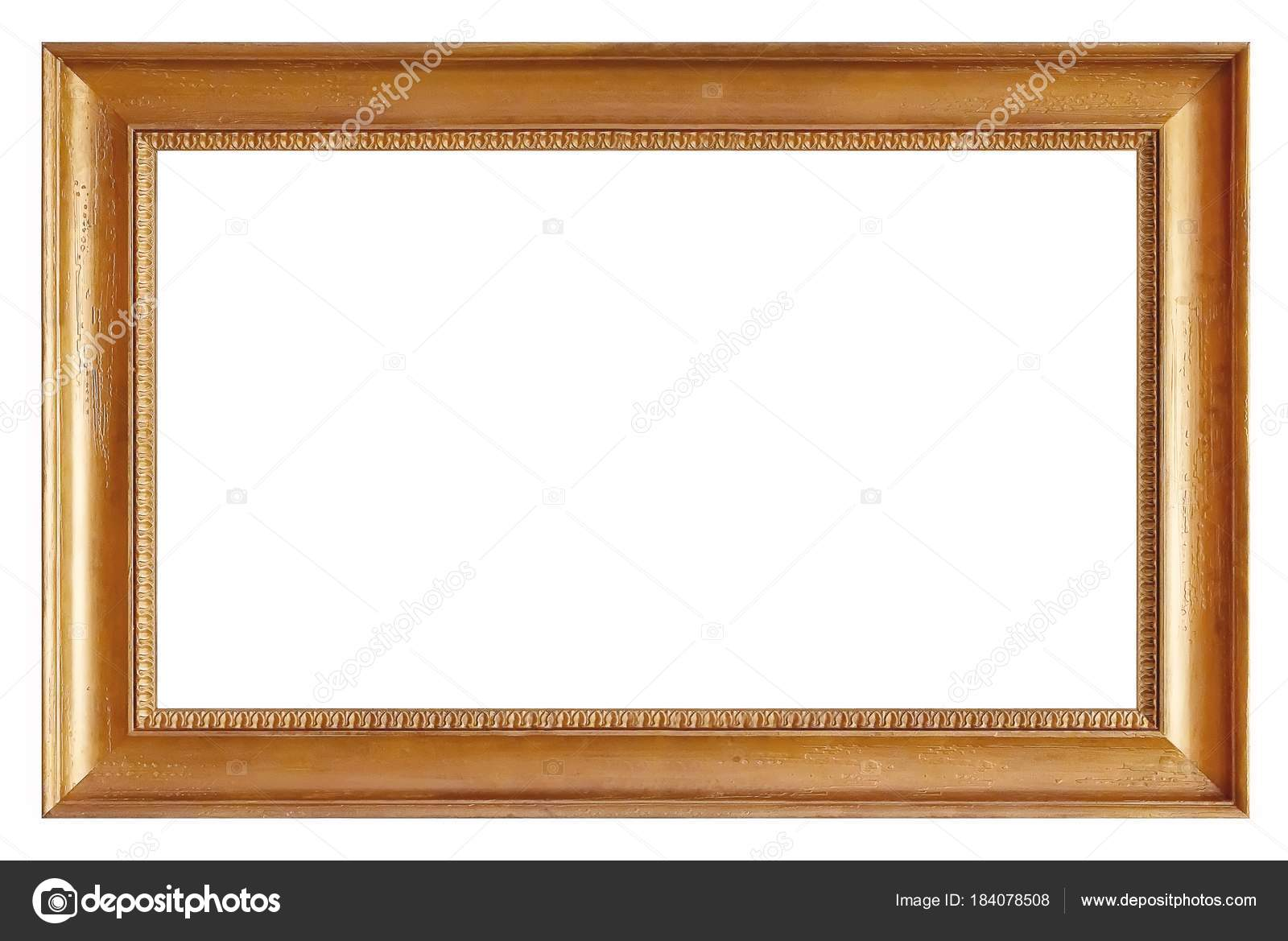 Golden Gilded Frame Paintings Mirrors Photos Isolated White ...