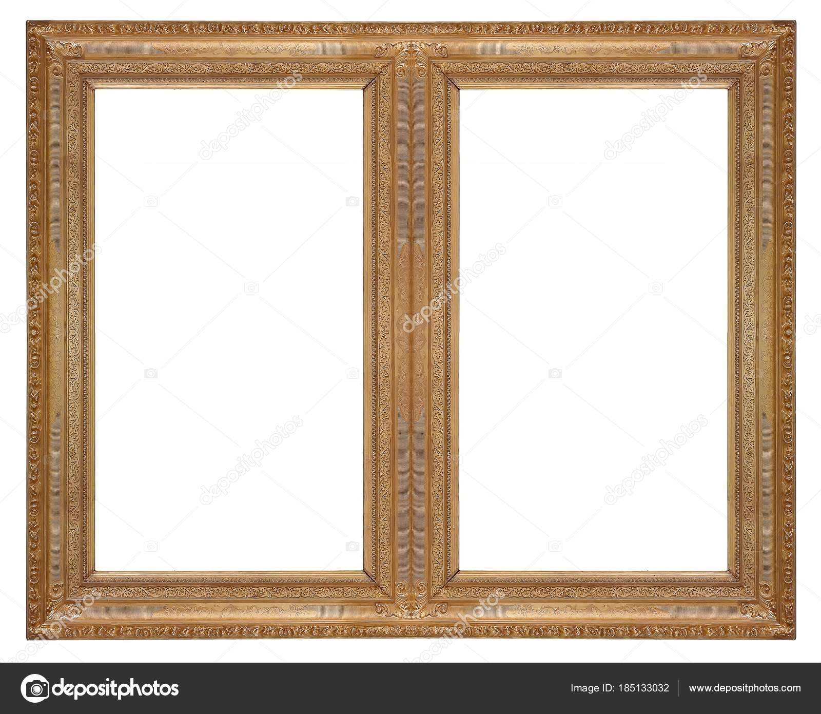 Golden double frame diptych white background paintings mirrors golden double frame diptych white background paintings mirrors photos stock photo jeuxipadfo Gallery