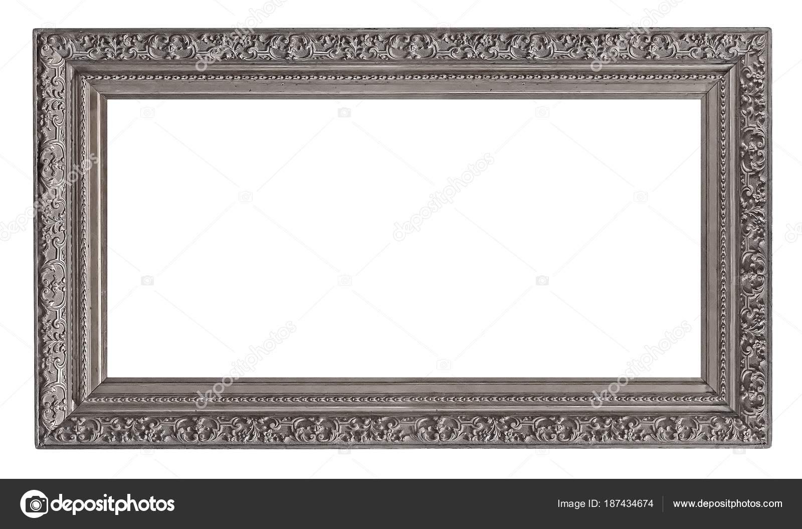 Cornice Argento Quadri Specchi Foto — Foto Stock © Prokrida #187434674