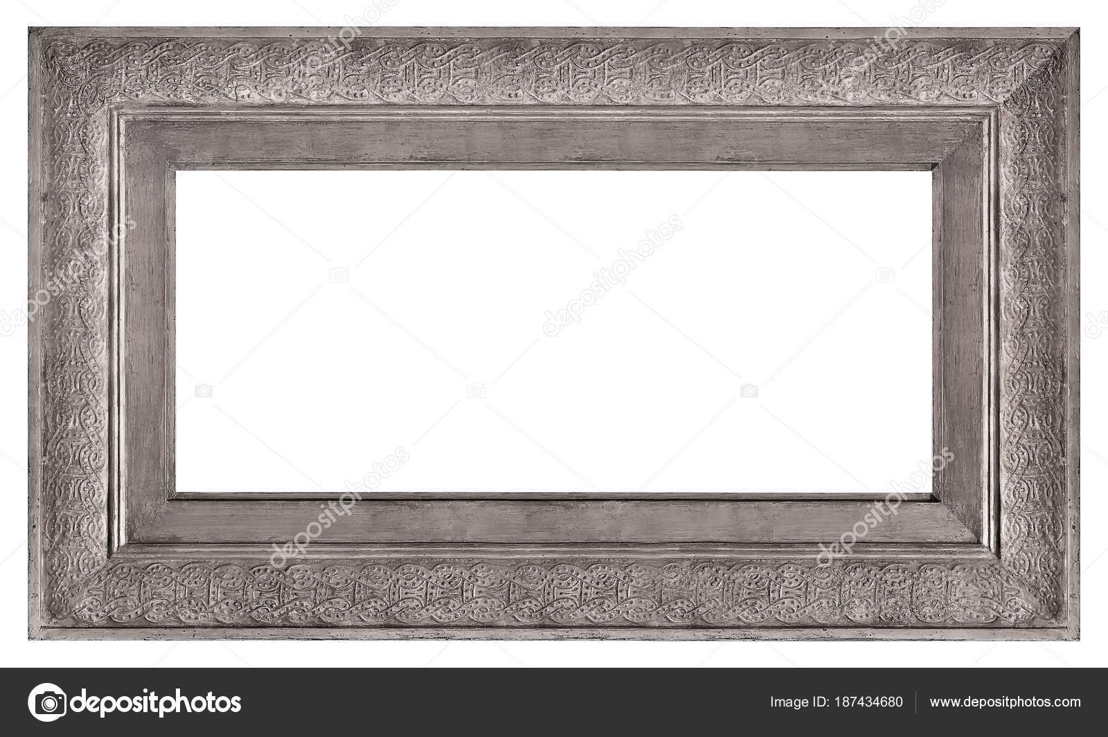 Cornice Argento Quadri Specchi Foto — Foto Stock © Prokrida #187434680