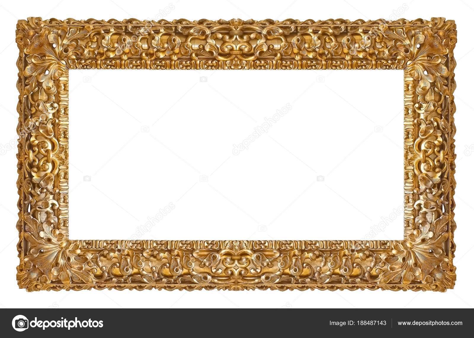 Oro Marco Para Cuadros Espejos Fotos — Fotos de Stock © Prokrida ...