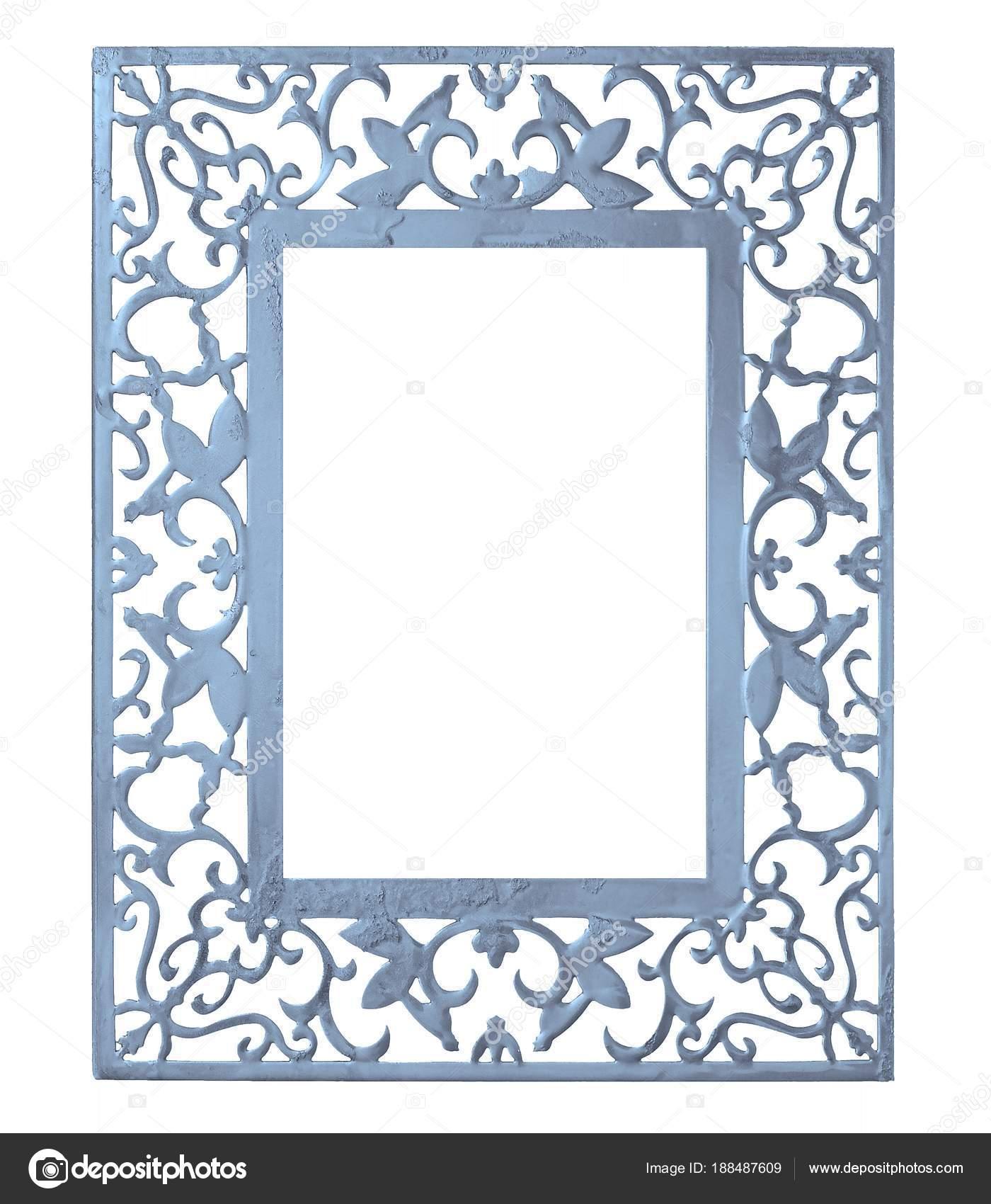 Azul Marco Metal Para Cuadros Espejos Fotos — Foto de stock ...