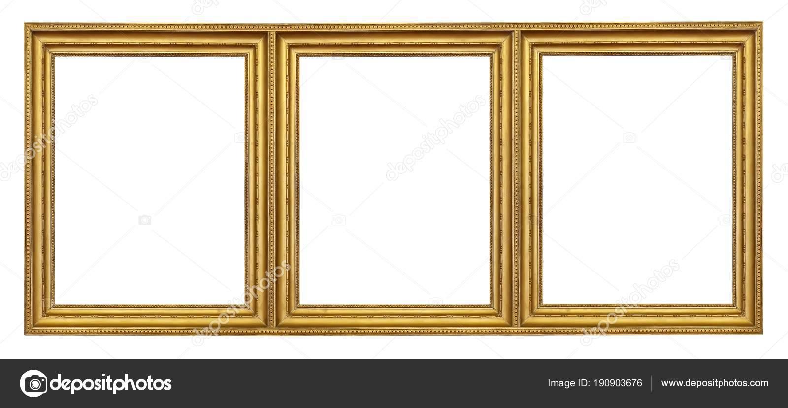 Dreifach Goldrahmen Triptychon Für Bilder Spiegel Oder Fotos ...