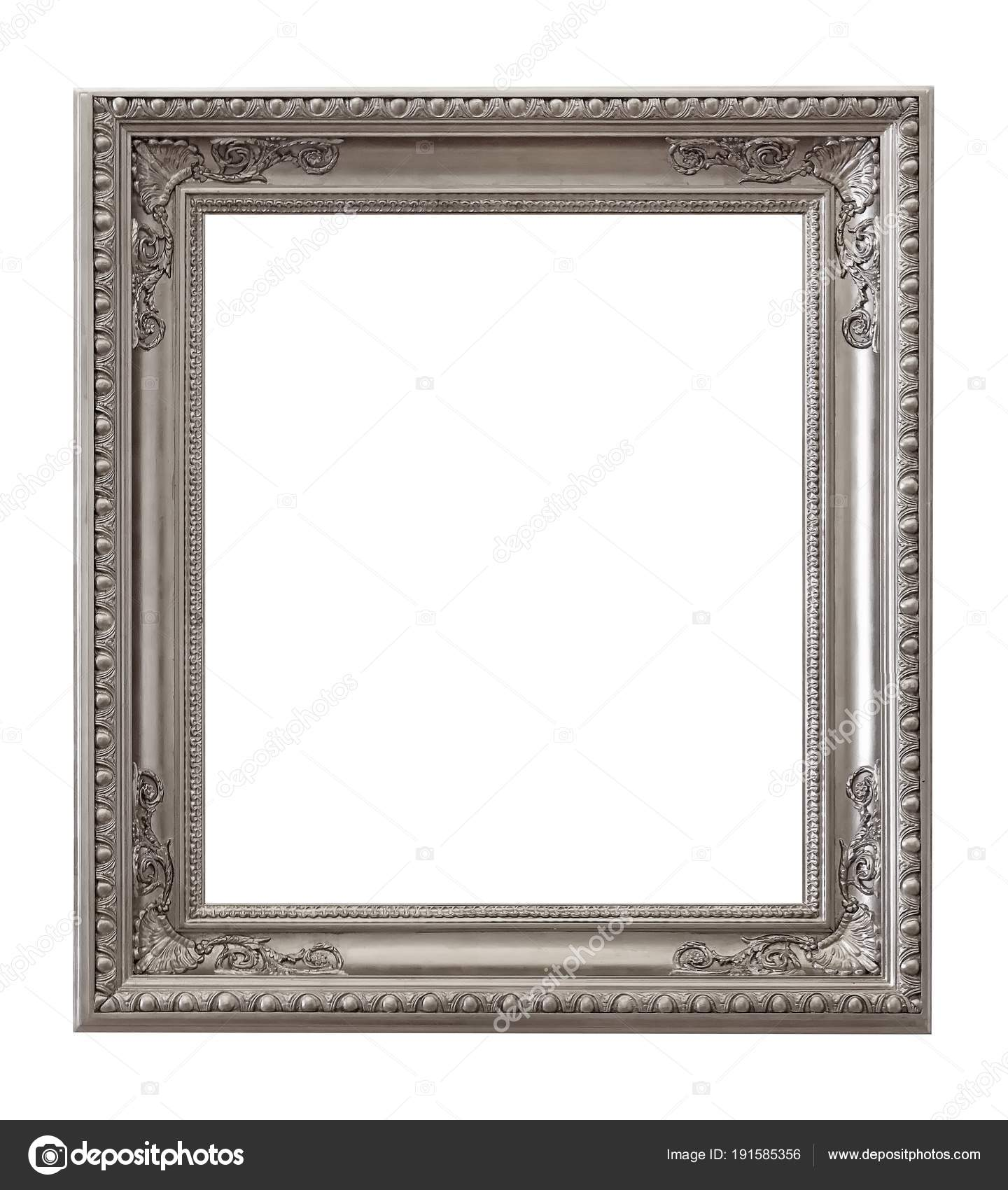 Cornice Argento Quadri Specchi Foto — Foto Stock © Prokrida #191585356