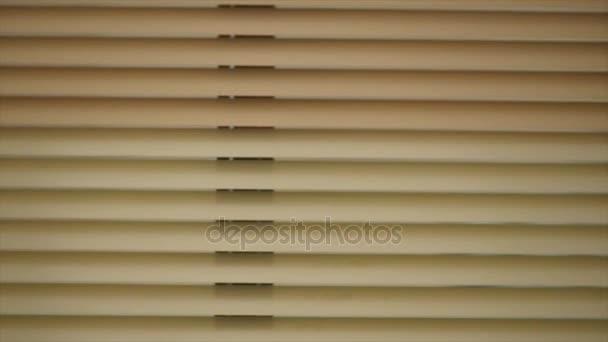 Detailní pohled z uzavřených okenní rolety