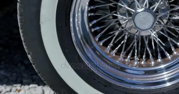 old, retro, classic Cabriolete wheel closeup