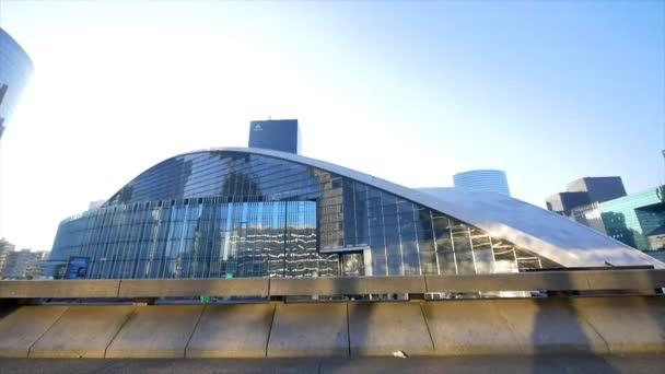 Big glass modern building round