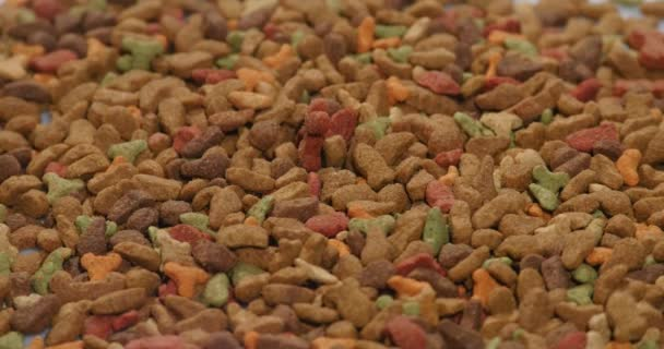 Tiernahrung Hintergrund. Tierisches Futter. Rotierende