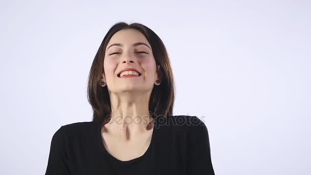 Žena vítězný jásot a slaví její úspěšné win vzrušený ruku velmi šťastný