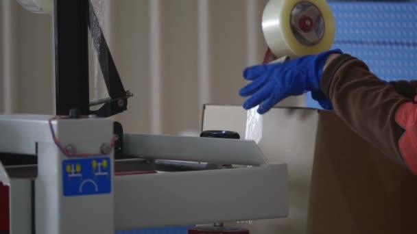 box balicí páska, produkce ve výrobě lepící pásky