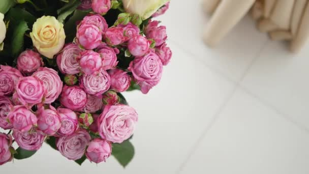 Bunch of small pink Roses